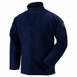 "BLACK STALLION F9-30C FR 9 Oz. Cotton 30"" Welding Jacket (Various Sizes S to 6XL)"