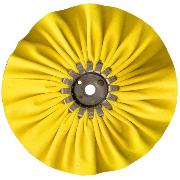 "FORMAX 6"" Yellow Mill Treated Buffing Wheel"