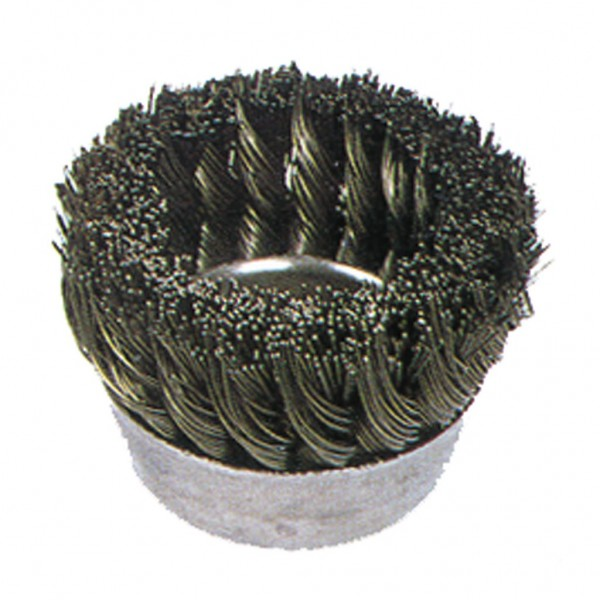 "3"" .014 MILWAUKEE KNOT TYPE    CUP BRUSH 5/8-11H (20143)"
