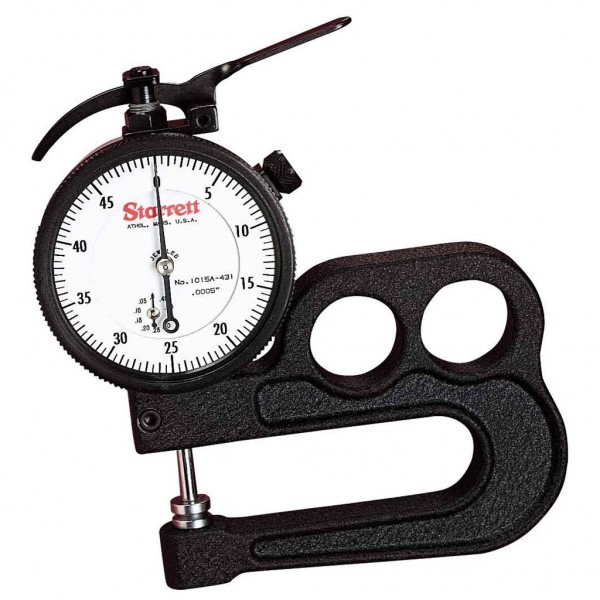 """1015A 1/2"""" .0005"""" 0-50 DIAL    THICKNESS GAGE STARRETT"""