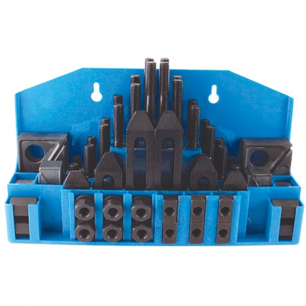 """TE-CO 5/8"""" Table T-Slot Size Machinist Clamping Set (1/2-13 Stud Size)"""