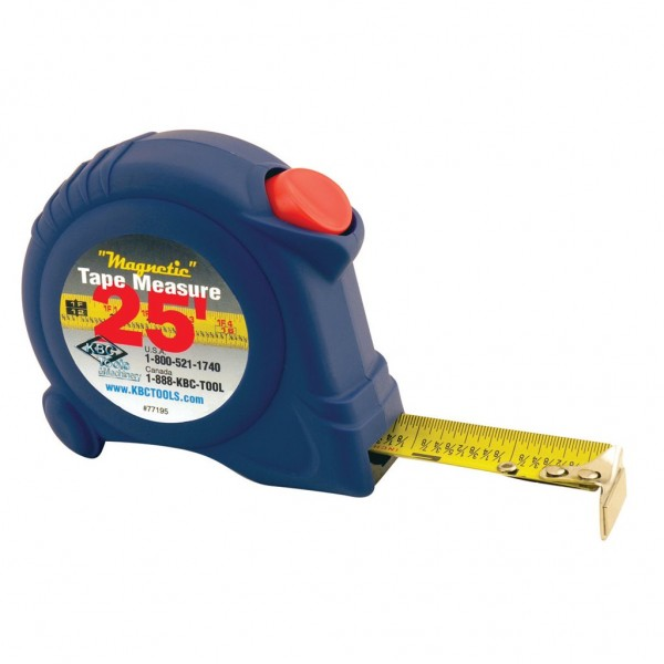 "1"" x 25' ""Magnetic"" Tape Measure with Belt Clip"